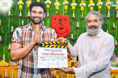 Director Rajamouli gives Muhurtham Clap For Bollywood Debutant Bellamkonda Sai Sreenivas