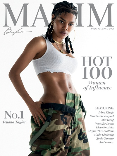 Teyana Taylor on the cover of Maxim